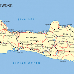 Carte des axes routiers à Java